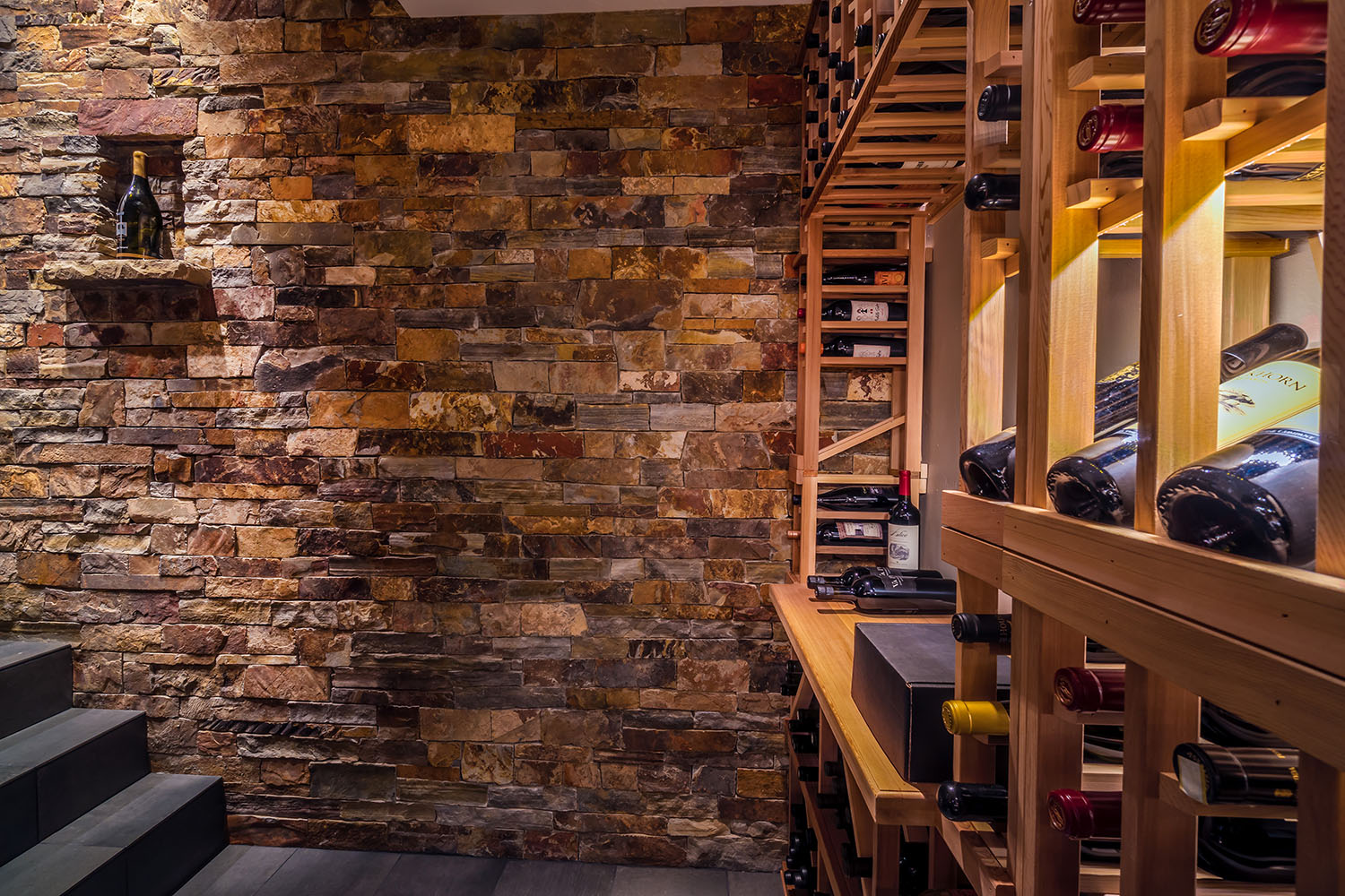 Bend Interior wine cellar Design